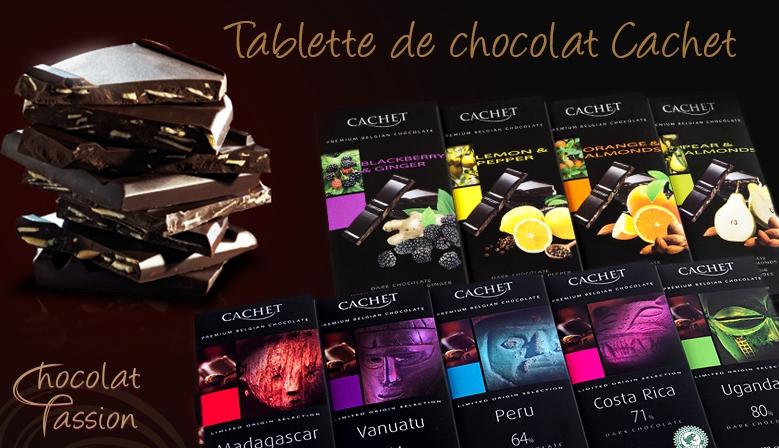 Tablette de chocolat Cachet